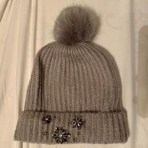 Sparkle Pom-Pom Hat